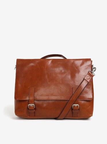 Světle hnědá pánská kožená taška na notebook Royal RepubliQ Omega ... 416b2f59269
