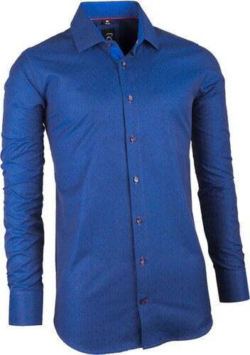 Modrá pánská košile slim fit Brighton 109947 - Glami.cz 0ca001dfd3