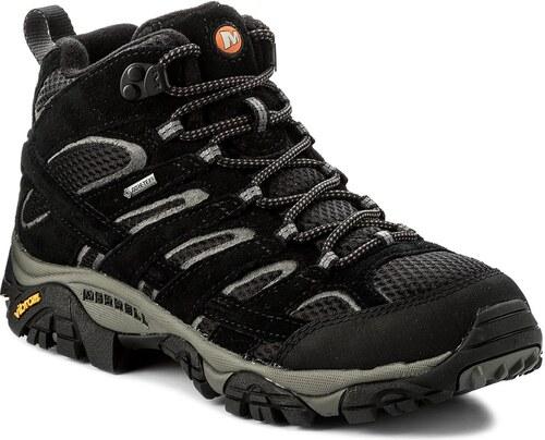 Trekingová obuv MERRELL - Moab 2 Ltr Mid GORE-TEX J18417 Black ... 9681f2b1c7c