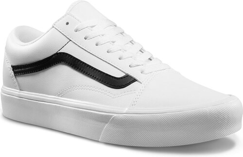 Vans Old Skool Lite classic tumble true white black - Glami.cz 6ff8eef7aa