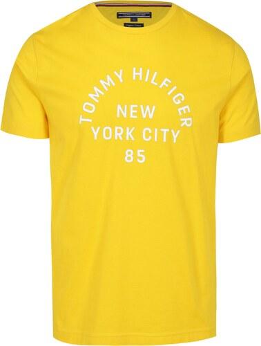 c7728e6d70 Žluté pánské tričko s potiskem Tommy Hilfiger - Glami.cz