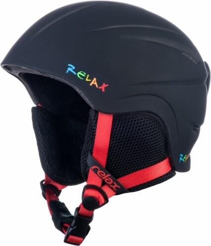 Detská - Junior Lyžiarska Helma RELAX TWISTER RH18O matná čierna 18 ... a729c5242b1