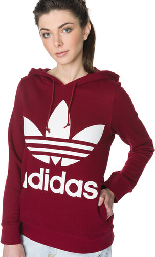 cbb95f4a67b adidas Originals Trefoil Mikina Červená - Glami.sk