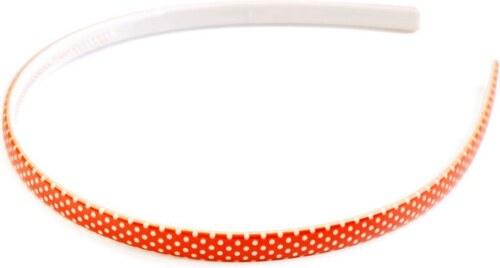Fuzio Plastová čelenka do vlasů s puntíky Oranžová - Glami.cz 399c881a55