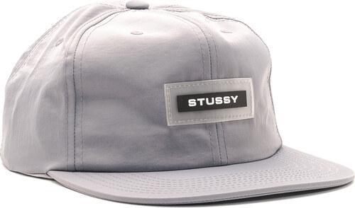 7885dedf1a8 Kšiltovka Stussy Nylon Twill Cap Grey Snapback - Glami.cz