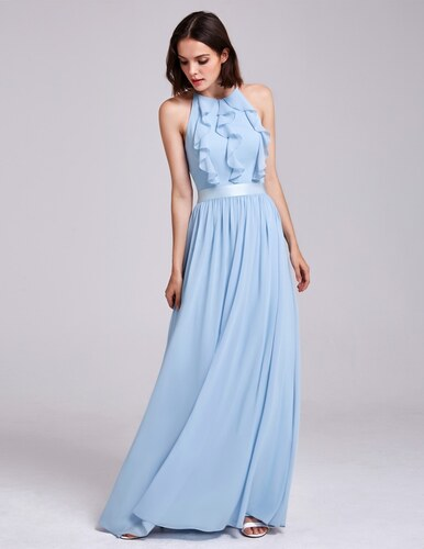 Ever-Pretty Světle modré šaty na zavazování za krk - Glami.cz 769832fadd