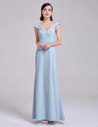 Ever-Pretty Světle modré elegantní šaty s přeloženým živůtkem - Glami.cz 2d3695edf4