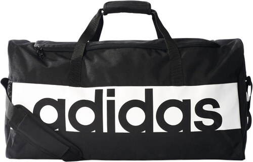 adidas PERFORMANCE Fekete sporttáska Linear Performance Duffel Bag ... 1fd6efb457