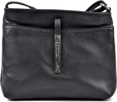 Čierna kožená kabelka Roberta M Julia - Glami.sk 6ff159be93a