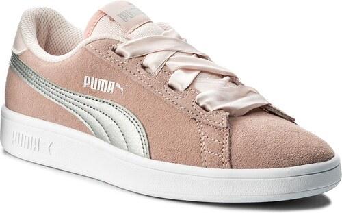 a59cb30a7b96 Sneakersy PUMA - Smash V2 Ribbon Jr 366003 02 Pearl Puma Silver ...