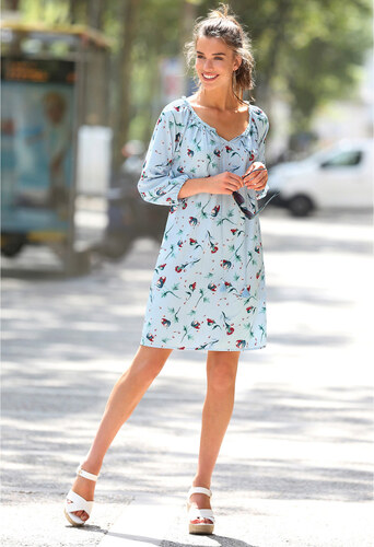 Venca Tunikové šaty se 3 4 rukávy potisk - Glami.cz d3a3f48a60