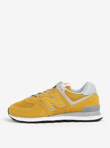 Žlté pánske semišové tenisky New Balance ML574 - Glami.sk 54a35e4ecb7
