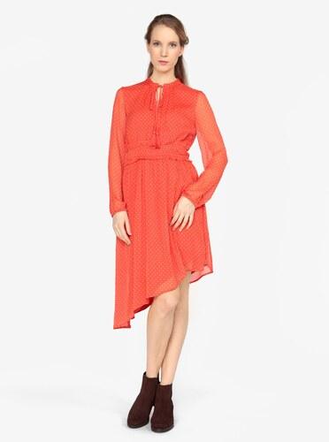 Červené asymetrické šaty s dlhým rukávom VERO MODA Lotta - Glami.sk 2ced77eabe3