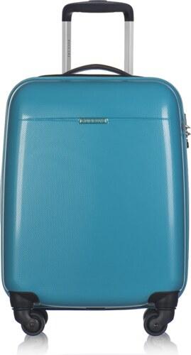 c1e6a65b43 Puccini cestovný kufor stredný M 40 litrov modrý polykarbonátový Voyager  PC005