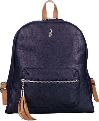 4a875dc61c Wojewodzic elegantný dámsky luxusný kožený batoh modrý s medovou 31739 GS14 S18