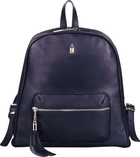 14a27e05da Wojewodzic elegantný dámsky luxusný kožený batoh modrý 31739 GS14 ...