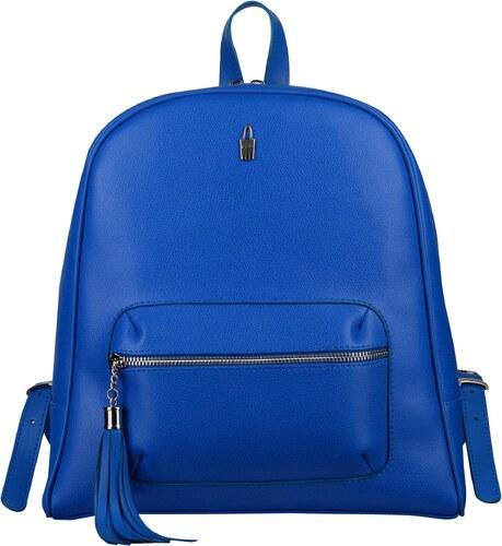 e85349a522 Wojewodzic elegantný dámsky luxusný kožený ruksak modrý 31739 CE09 ...