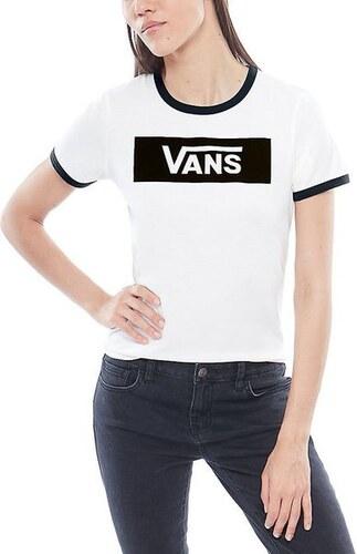 Dámské tričko Vans OPEN ROAD White Black L - Glami.cz 2a8a39540a