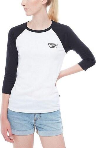 Dámské tričko Vans FULL PATCH RAGLAN White Black M - Glami.cz 8fe0229d50