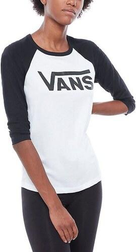 Dámské tričko Vans FLYING V RAGLAN White Black XS - Glami.cz fc1047ac98