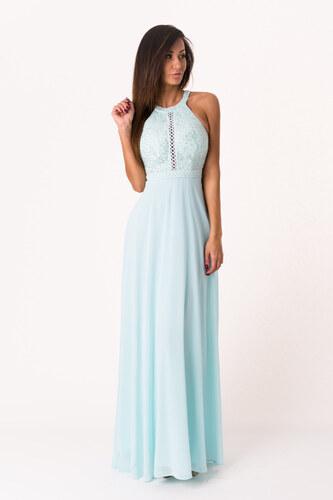 Dámské společenské šaty EVA LOLA bez rukávů dlouhé světle modré ... 83c0f4d53f