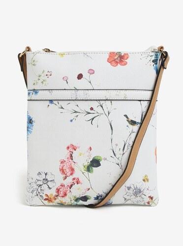 fd17b8f6aa Bílá květovaná crossbody kabelka Bessie London - Glami.cz