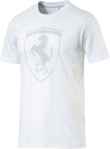 -20% Pánské Tričko Puma Ferrari Ferrari Big Shield Tee Puma Wh White cf28a0ffc9f