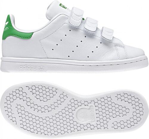 -30% Detské tenisky adidas Originals STAN SMITH CF C (Biela   Zelená) c29cda06f1a