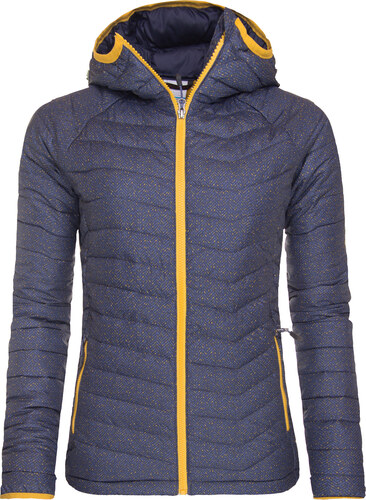 Zimní bunda dámská Columbia Powder Lite Hooded Jacket Nocturnal Tweed Print 9d650e56d9