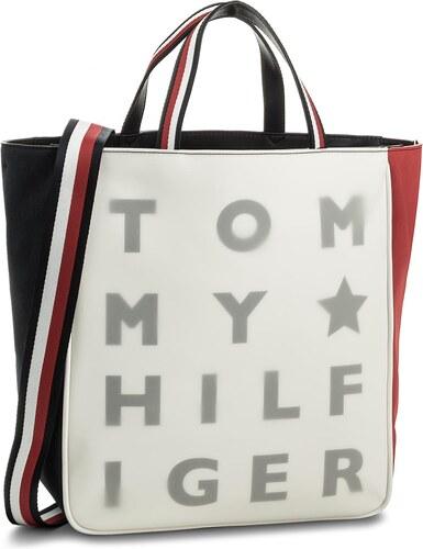 Kabelka TOMMY HILFIGER - Logo Story Tote Transparent AW0AW04948 901 ... b96d20db9ea
