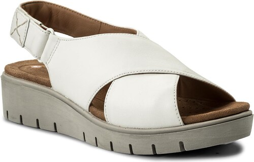 Szandál CLARKS - Un Kerely Hail 261322354 White Leather - Glami.hu 2e2e1afdb9