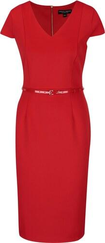 2edaffb933a7 Červené puzdrové šaty s opaskom Dorothy Perkins - Glami.sk