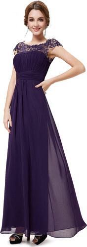 Ever Pretty plesové šaty s krajkou fialové 9993 - Glami.cz b1369cf087