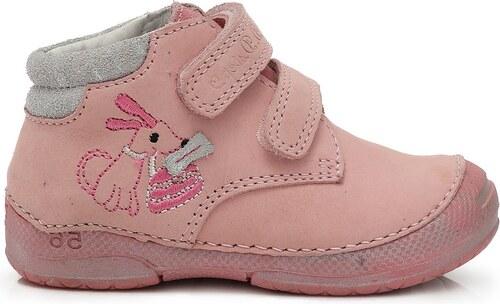 19f4f0734 D.D.step Dievčenské členkové topánky s psíkom - svetlo ružové - Glami.sk