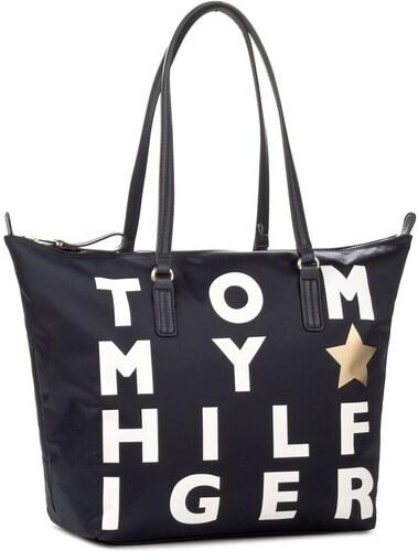 Tommy Hilfiger tmavě modrá kabelka Poppy Tote Logo - Glami.cz c4cf2142326