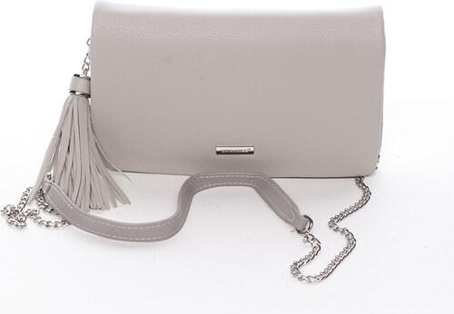 50cbb642fd Elegantná dámska crossbody listová kabelka svetlo šedá - David Jones  Laodamia šedá