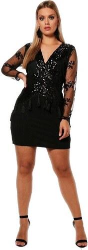 BOOHOO Spoločenské mini šaty Rosie zdobené strapcami - Glami.sk 3b3bd81525e