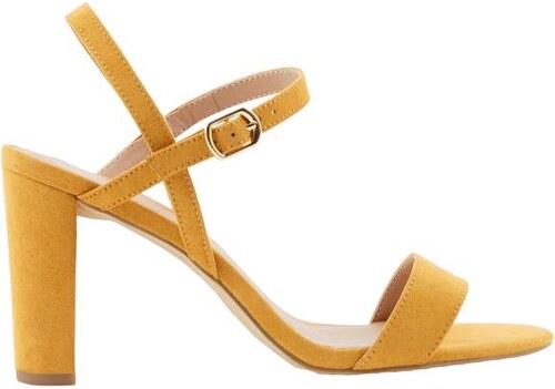 2312abd4a885 NEW LOOK Semišové sandále s cross pásky na podpätku - Glami.sk