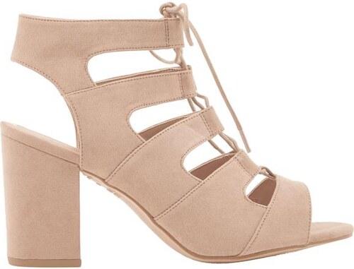 37a0daf1086b NEW LOOK Semišové sandále so šnurovaním na podpätku - Glami.sk