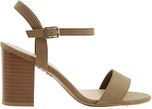 a58cbffc4db8 NEW LOOK Semišové sandále na širokom podpätku - Glami.sk