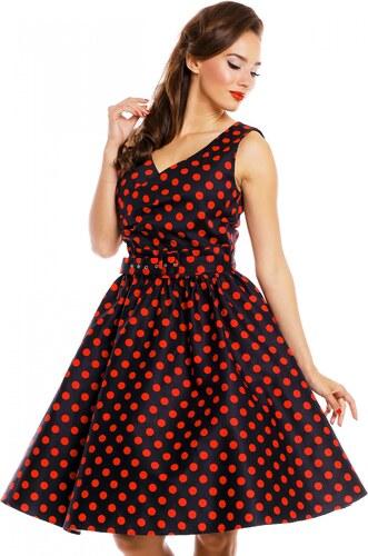 8678b023096 Dolly and Dotty retro šaty May černé s červenými puntíky - Glami.cz