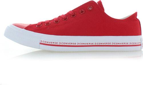Converse Pánske červené nízke tenisky Chuck Taylor All Star Pinstripe 2736d4961c