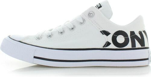 33fe78daf8f Converse Dámské bílé nízké tenisky Chuck Taylor All Star High Street Canvas  Wordmark