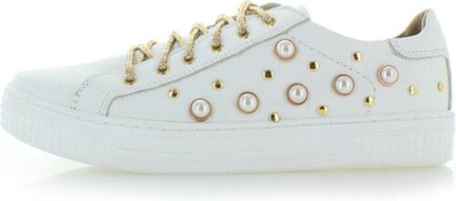 0a9e0d7318a Olivia Shoes Biele kožené tenisky Lila - Glami.sk