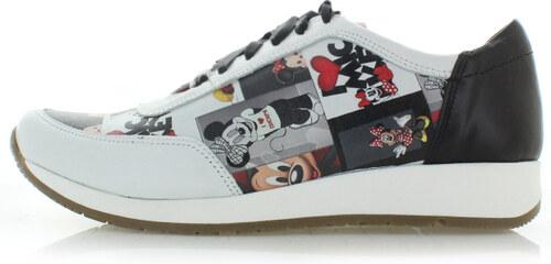 dff2bddb5b0 Olivia Shoes Čierno-biele kožené tenisky Mickey - Glami.sk