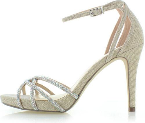 48f75289d56f Menbur Zlaté sandále Alvera - Glami.sk