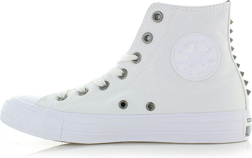 Converse Dámske biele vysoké tenisky Chuck Taylor Canvas + Studs ... 59ac8d9b347