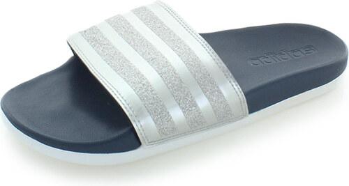 cad26494e107 adidas PERFORMANCE Dámske strieborné šľapky Adilette Cloudfoam Plus  Explorer Slides