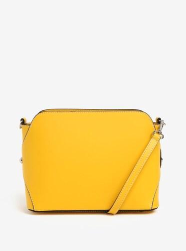 Žlutá dámská kožená crossbody kabelka KARA - Glami.cz ac880111ff8