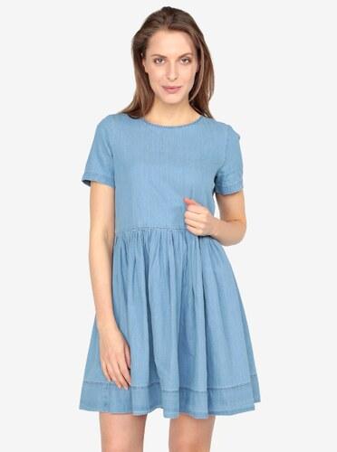 e63c99226860 Svetlomodré voľné rifľové šaty VERO MODA Maya - Glami.sk